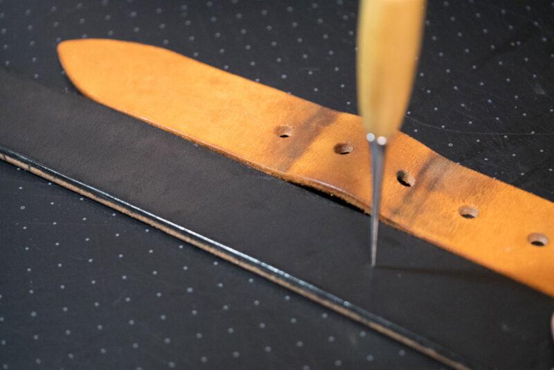 レザークラフト ベルトの作り方 (14)